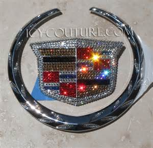 Pink Cadillac Emblem Cadillac Emblem Bedazzled In Your Favorite Colors