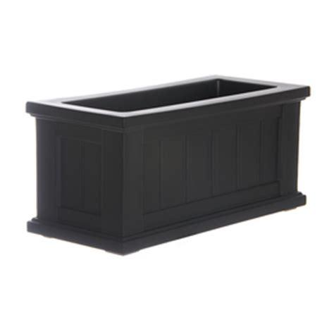 Black Rectangular Planter Box by Shop Mayne 24 In X 11 In Black Plastic Self Watering