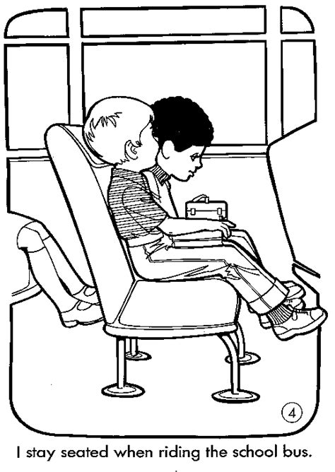 school bus safety coloring pages coloringpagesabc com