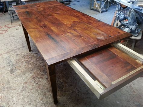 Dining Table With Leaves Stored Inside Kmpower Co
