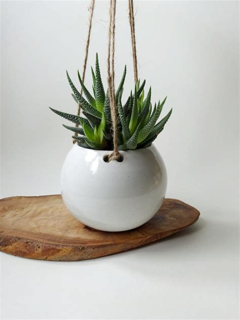 white hanging planter white hanging planter made to order hanging pot for small
