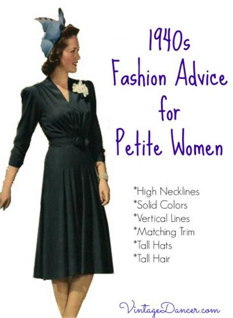 in the 40s were the shoes short or long 1940s fashion advice for short women