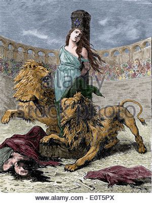 Lions And Christians and christian martyrs colosseum rome italy 19th