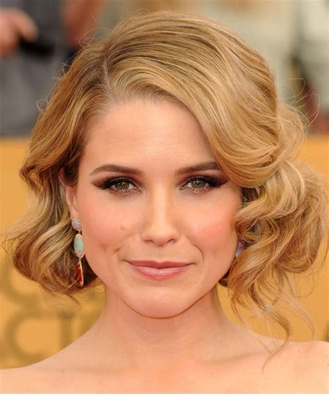 bush hairs sophia bush medium wavy formal hairstyle medium blonde
