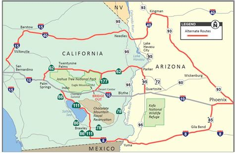 arizona highway conditions map commuter alert interstate 10 closed near desert center