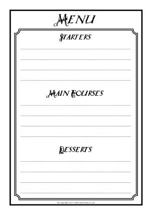 Card Writing Template Ks1 by Menu Writing Frames And Printable Page Borders Ks1 Ks2