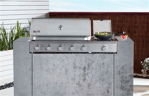 cucina professional 5 burner build in bbq with side burner