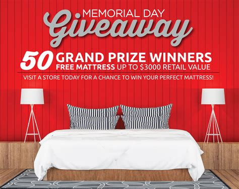 Day Giveaway - memorial day giveaway mattress firm autos post