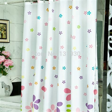 10 Sizes Terylene Waterproof Shower Curtain Colorful Small