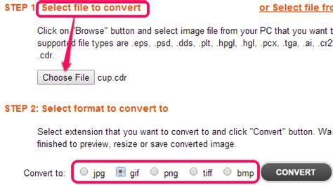 format html file input cdr file converter convert psd cdr cr2 crw to jpg png