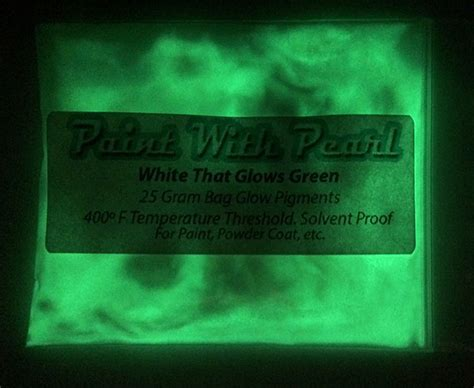 glow in the paint lasting white to green glow in the paint color shift pearls