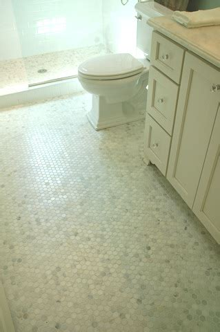 marble hex tile bathroom floor white carrera marble hex tiles transitional bathroom