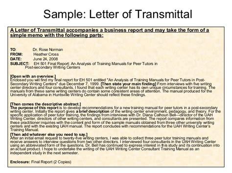 Sle Of Transmittal Letter In The Philippines transmittal letter apa format docoments ojazlink