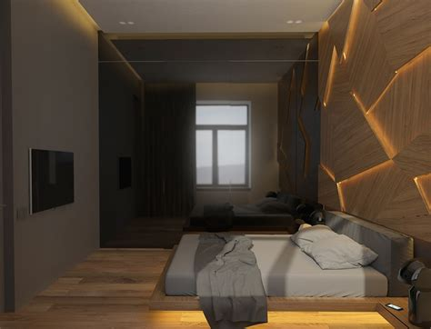 decorative wall furniture geometric decorative wall panel with led light for bedroom