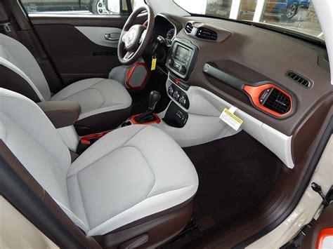 jeep renegade grey interior stylish bark brown ski gray interior of the 2015 jeep