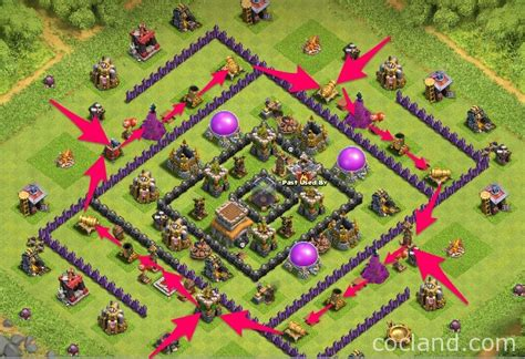 coc layout to protect resources megacube layout maximum de protection for th8 clash of