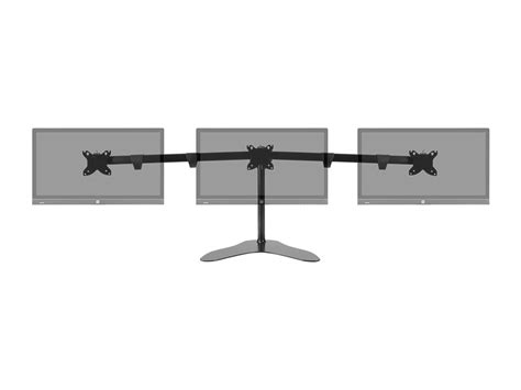 monoprice sit stand desk monoprice triple monitor free standing desk mount 15 quot 30