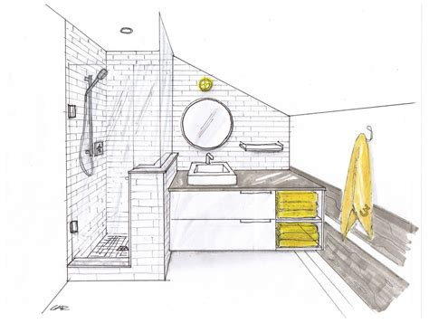 Bathroom Layout Designer by Bathroom One Point Perspective Search Drawings