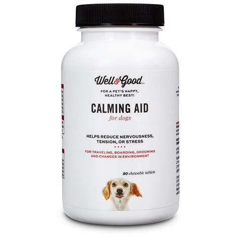 calming aid for dogs well calming aid tablets 30 count petco