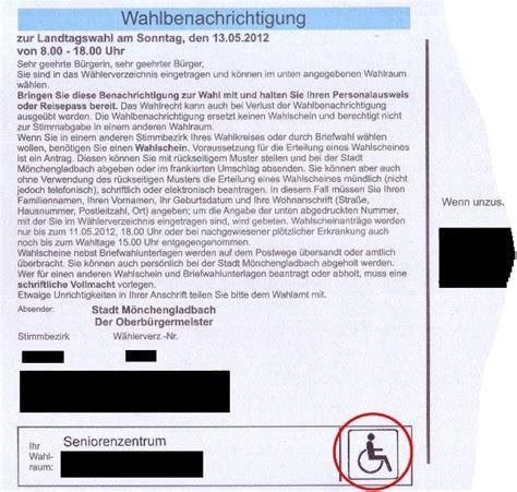 Antrag Briefwahl Nrw B 252 Rgerzeitung F 252 R M 246 Nchengladbach Und Umland 187 Archiv 187 Antrag Auf Briefwahl Kann Auch