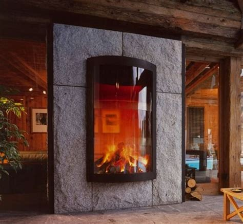 see through fireplace cool for the home
