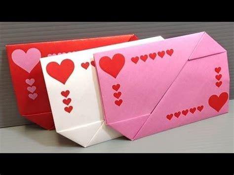 Origami Secret Box - diy origami box envelope secret message