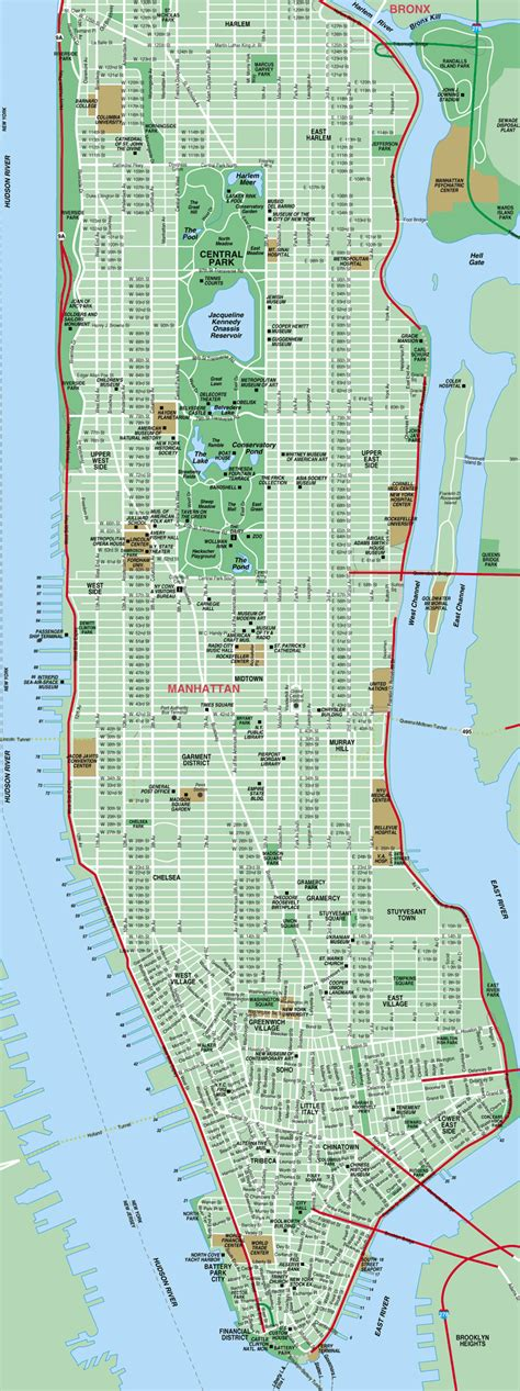 a map of manhattan new york map of manhattan new york city detailed manhattan map