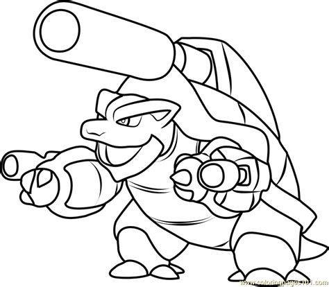 mega blastoise coloring sheet coloring pages