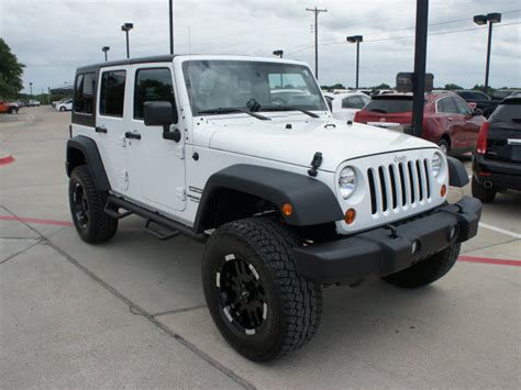Jeep Wrangler 4 Wheel Drive Jeep Wrangler Unlimited 2012 White Suv Sport Gasoline 6
