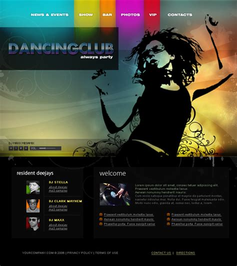 entertainment template junction website template 3610 entertainment