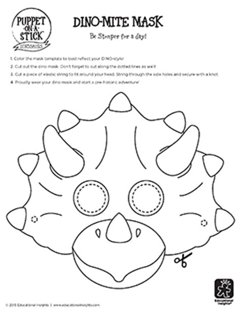 dinosaur mask template diy at home dino crafts and ideas