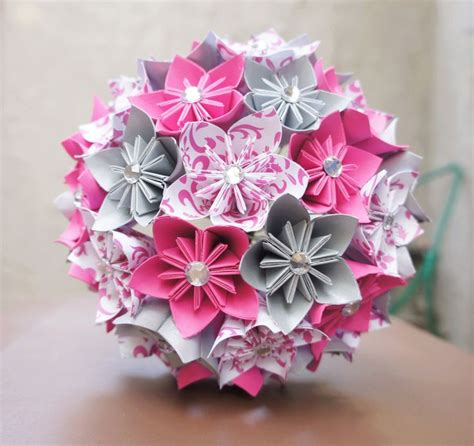 How To Make A Origami Flower Bouquet - 12 step by step diy papers made flower craft ideas for