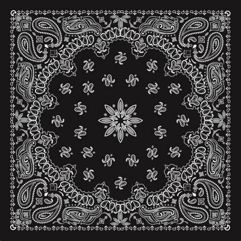 bandana pattern ai black with white bandana patterns design vector 03