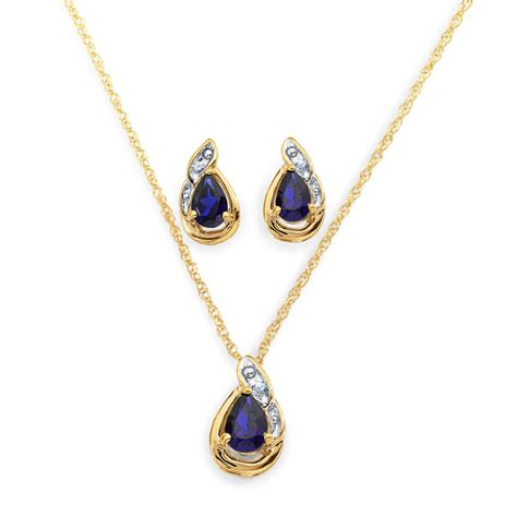 sapphire necklace earrings set jewelry jewelry sets