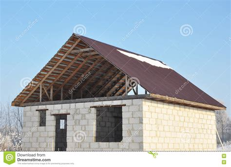 building new house roofing construction building new house from autoclaved