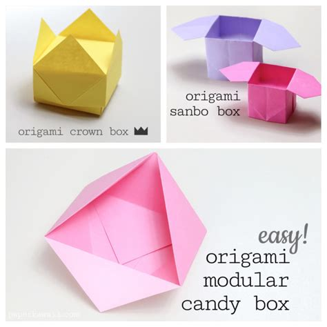 Origami Box Easy - 3 easy origami boxes photo paper kawaii