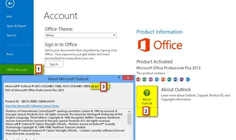 Office X64 How Can I Tell If I Office 2013 64bit Or 32bit