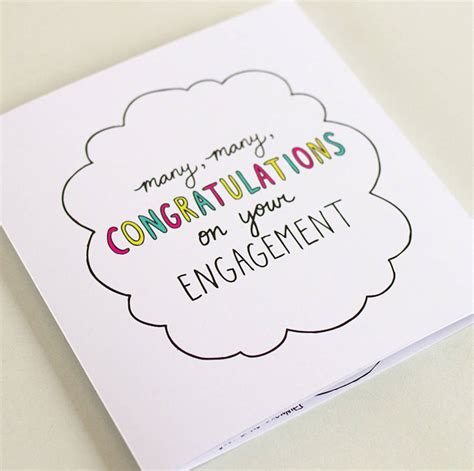 The Engagement by Congrats On Your Engagement Square Journey Card By