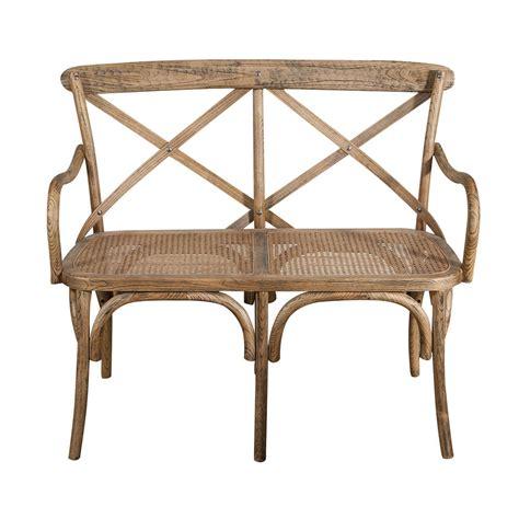 divanetto in rattan divanetto in legno e rattan marrone romantica atmosfera