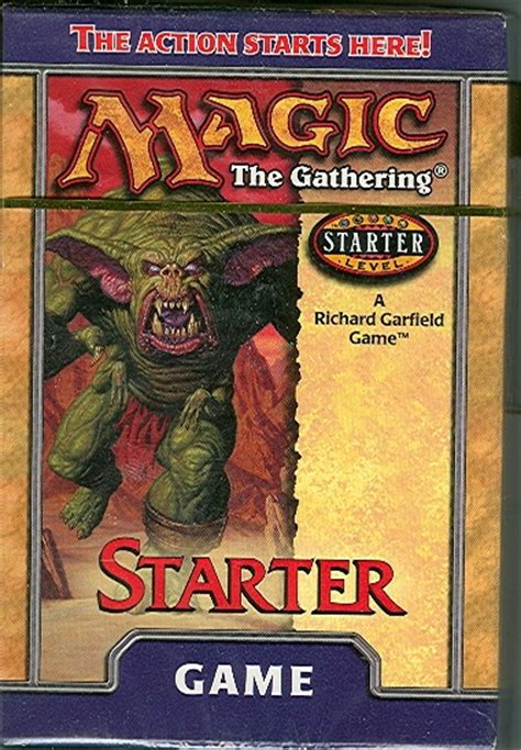 Magic The Gathering Black Starter Deck by Magic The Gathering Starter 1999 2 Player Starter Deck