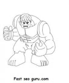 Superheroes Hulk Coloring Pages Printable For Kids sketch template