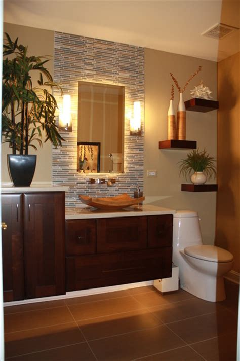 Tropical Mirrors Bathroom by After Vanity Tropical Bathroom Chicago By J