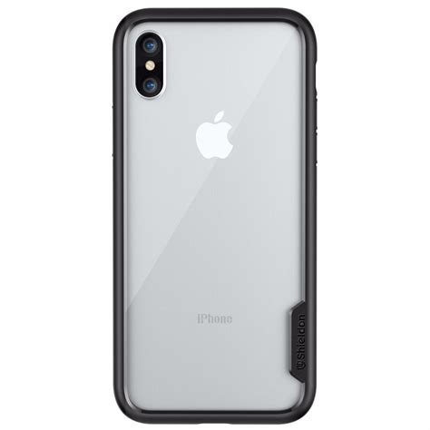 shieldon iphone xs apple iphone x iphone 10 tpu bumper with transparent back cover
