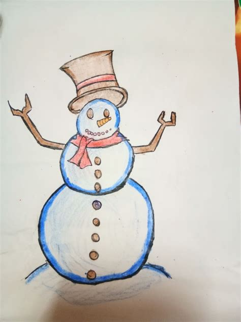 Bolpoin Drawing Snowman 0 1 how to draw a snowman 8 steps with pictures wikihow
