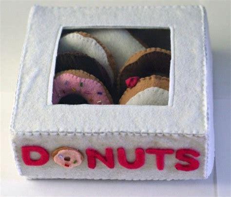 felt donut pattern diy felt food donuts and box pattern pdf box patterns