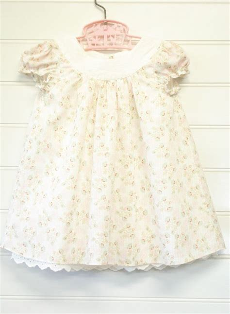 vintage baby clothes baby girl dress pink floral baby