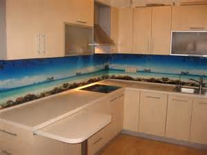 Ideas For Kitchen Backsplashes by Colorful Glass Backsplash Ideas Adding Digital Prints To