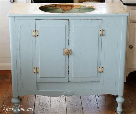 vintage bathroom vanity cabinet vintage cabinet into a bathroom vanity via knickoftime net