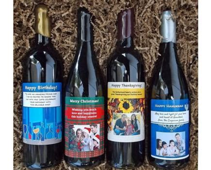 personalized wine bottles from winegreeting com 2 bottle