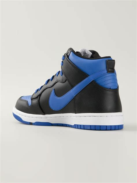 dunk sneakers nike air dunk leather sneakers in blue for lyst